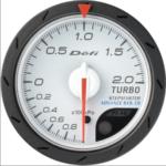 defi advance cr 52mm turbo 2.0 bar white
