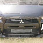 aero workz Evo X carbon front lip 2