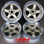 SSR-PROFESSOR-SP1-Size-FRONT-18x10.5-Offset-12-REAR-18x10.5-Offset-5-PCD-5X114.3-Gold-centre-polished-lip-3-piece-construction-for-sale-uk-ireland-2