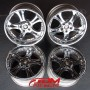 WEDS KRANZE CERBERUS chrome deep dish alloy wheels for sale uk europe-1
