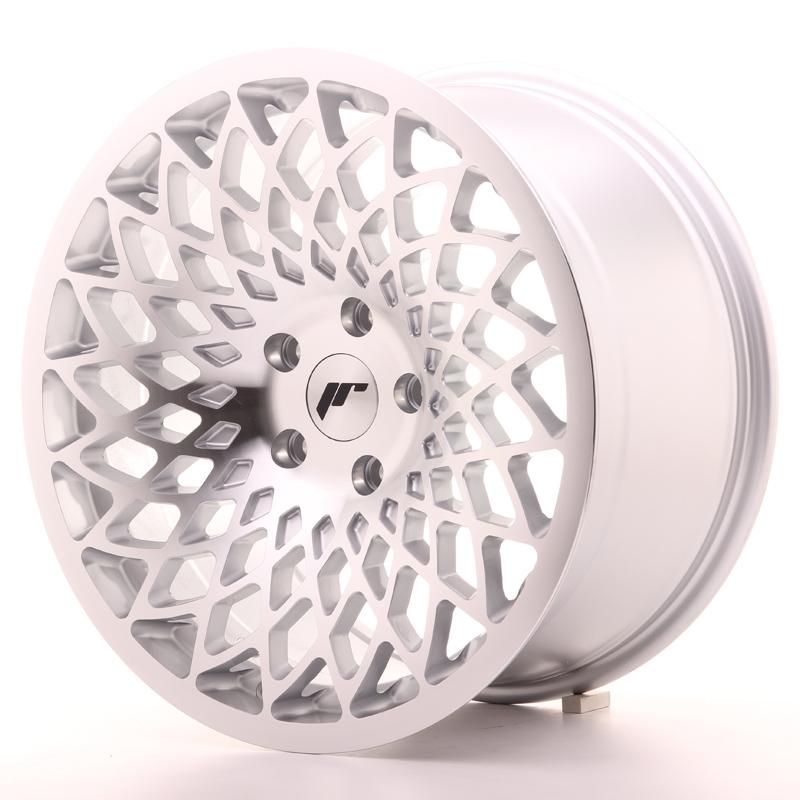 JR Wheels JR17 18x9.5 ET35 5x100 Silver Mach Face