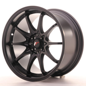 "Japan Racing JR Wheels JR5 17x9.5"" ET25 5x114.3 5x100 Black"