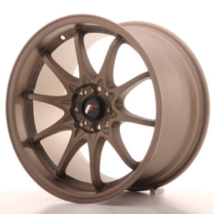 "Japan Racing JR Wheels JR5 17x9.5"" ET25 5x100 5x114.3 Bronze"