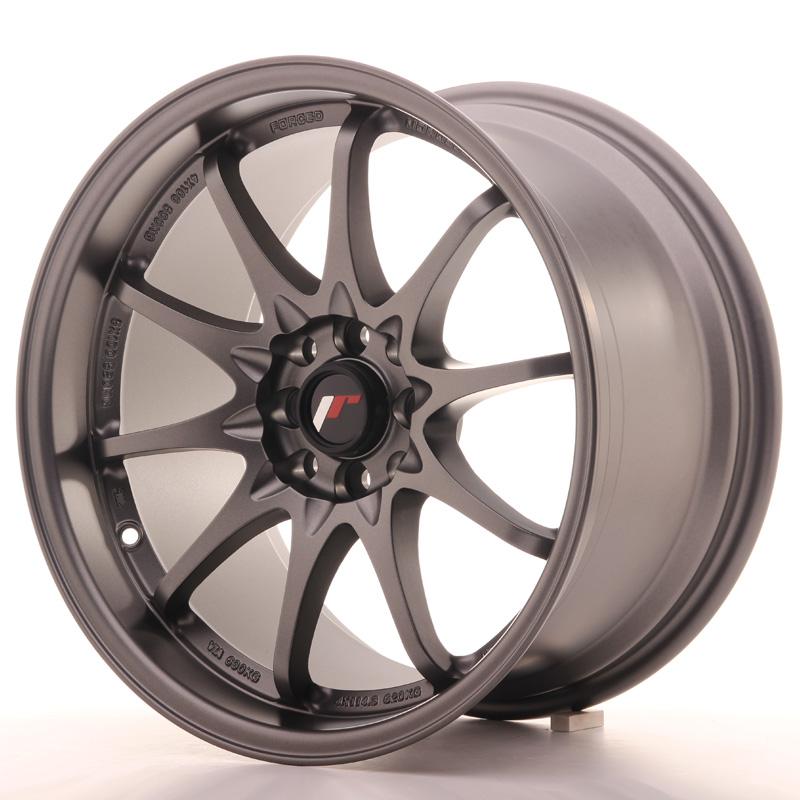 "Japan Racing JR Wheels JR5 17x9.5"" ET25 5x100 5x114.3 Gun metal"