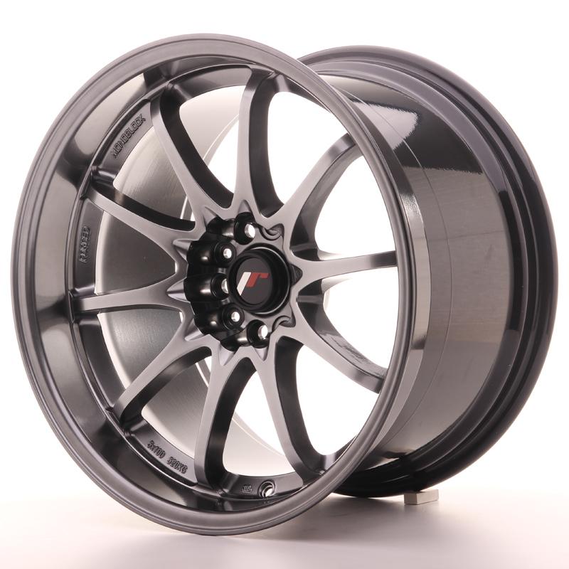 "Japan Racing JR Wheels JR5 18x10.5"" ET12 5x114.3 Hiper Black"