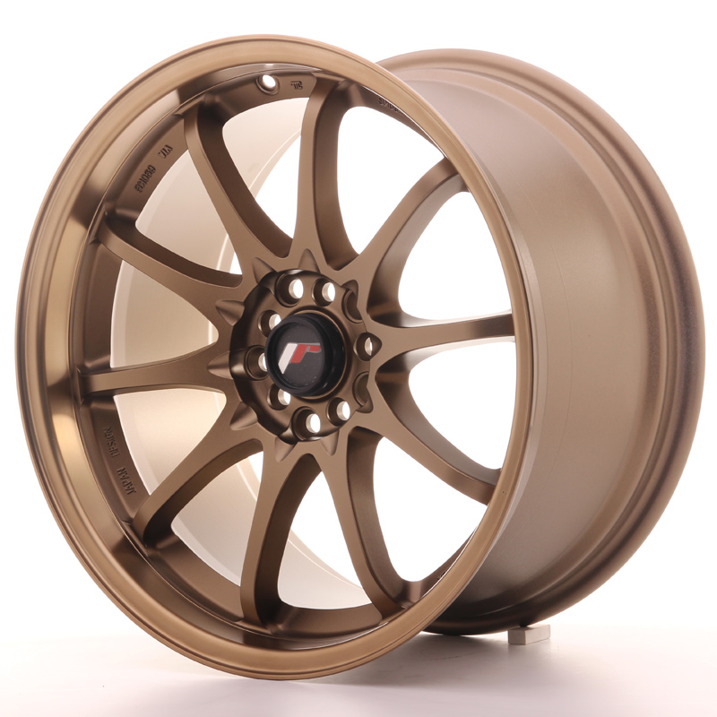 "Japan Racing JR Wheels JR5 18x9.5"" ET22 5x100 5x114.3 Bronze"