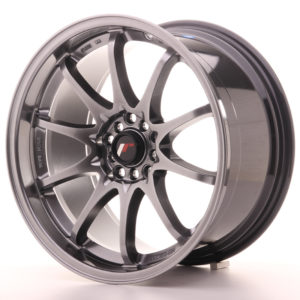 "Japan Racing JR Wheels JR5 18x9.5"" ET22 5x100 5x114.3 Hiper Black"