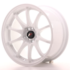 "Japan Racing JR Wheels JR5 18x9.5"" ET22 5x114.3 5x100 White"