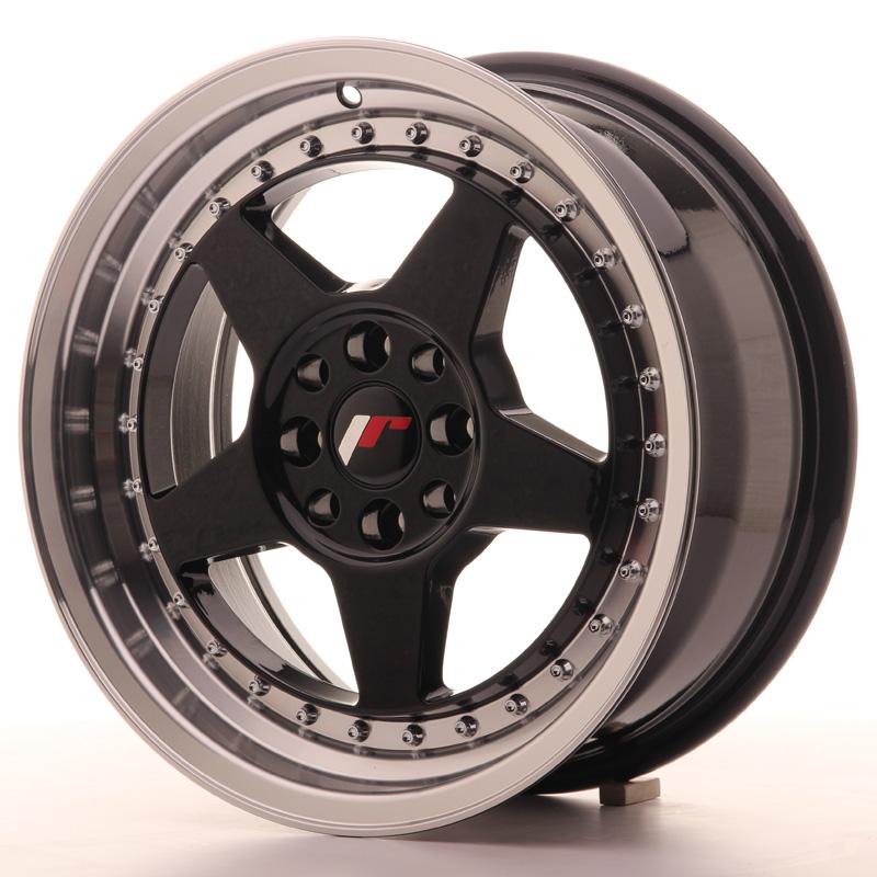 japan racing jr wheels jr6 16x7 et35 4x100 4x114 3 black. Black Bedroom Furniture Sets. Home Design Ideas