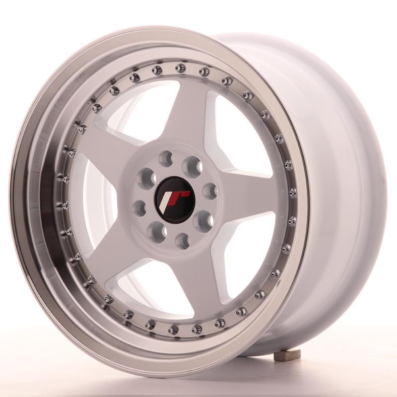 japan racing jr wheels jr6 16x8 et30 4x100 4x114 3 white. Black Bedroom Furniture Sets. Home Design Ideas