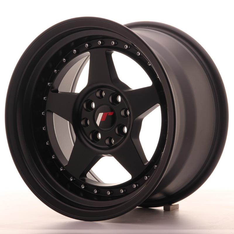 japan racing jr wheels jr6 16x9 et20 4x108 4x100 black. Black Bedroom Furniture Sets. Home Design Ideas