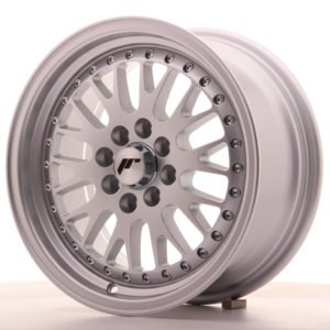 "Japan Racing JR Wheels JR10 15x7"" ET30 4x108 4x100 Silver"