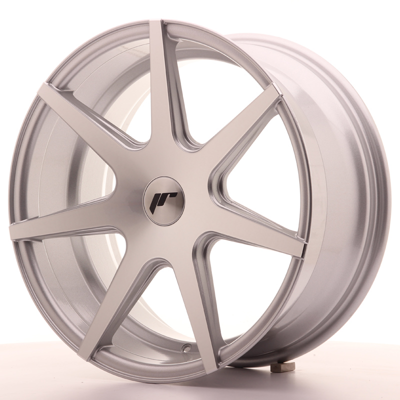"Japan Racing JR Wheels JR20 18x8.5"" ET25-40 CUSTOM PCD Silver Machined Face"