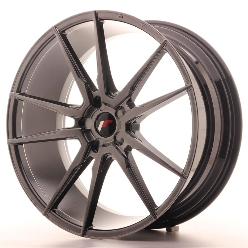 "Japan Racing JR Wheels JR21 22x9.5"" ET30-45 CUSTOM PCD Hiper Black"