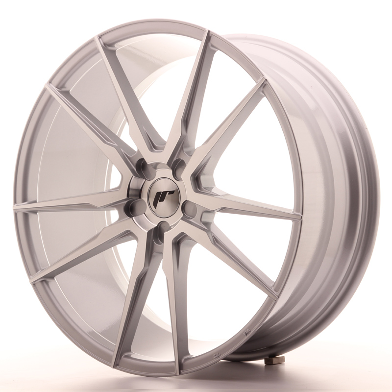 "Japan Racing JR Wheels JR21 22x9.5"" ET30-45 CUSTOM PCD Silver Machined Face"