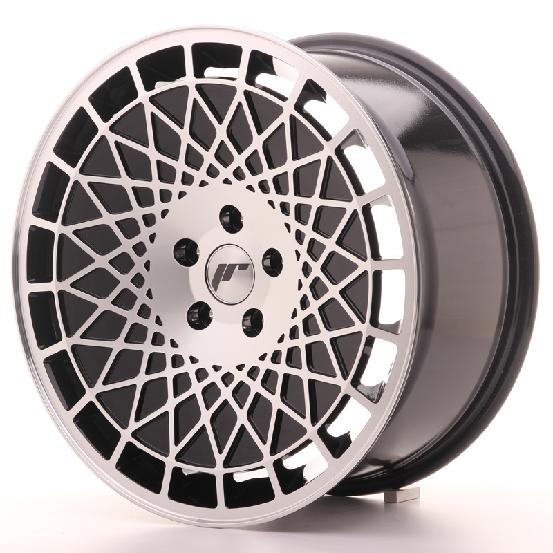 "Japan Racing JR Wheels JR14 18x8.5"" ET35 5x120 Black Machined Face"