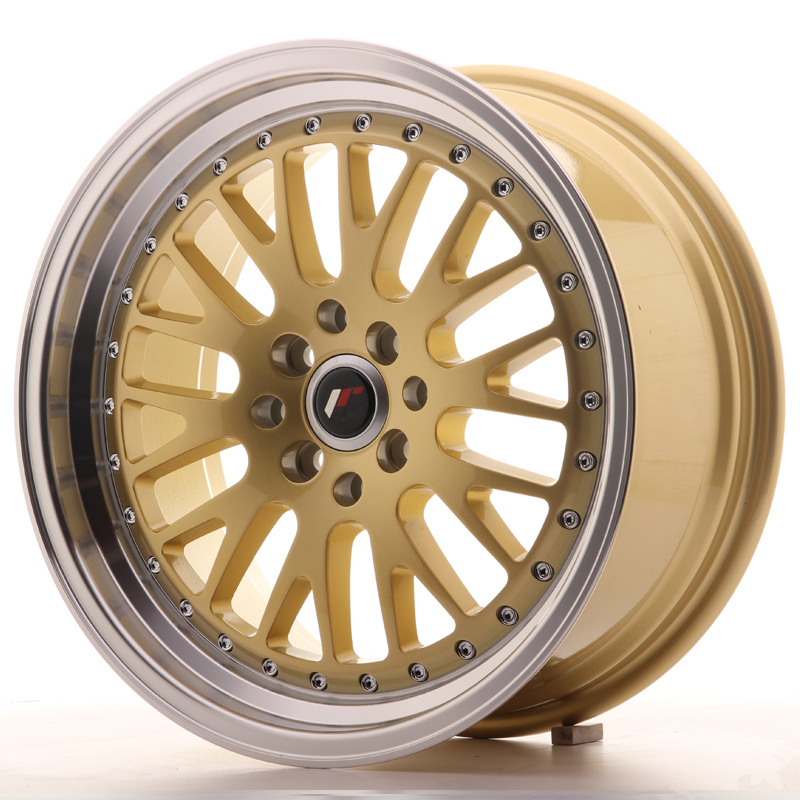 "Japan Racing JR Wheels JR10 17x8"" ET35 4x114.3 4x100 Gold"