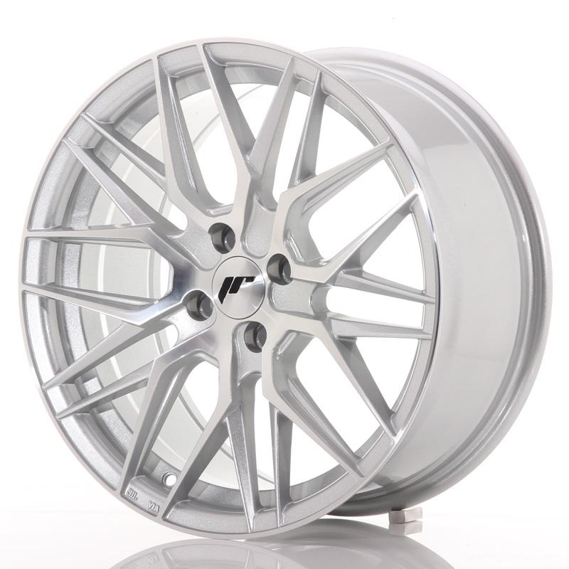 japan racing jr wheels jr28 17x8 et40 4x100 silver. Black Bedroom Furniture Sets. Home Design Ideas