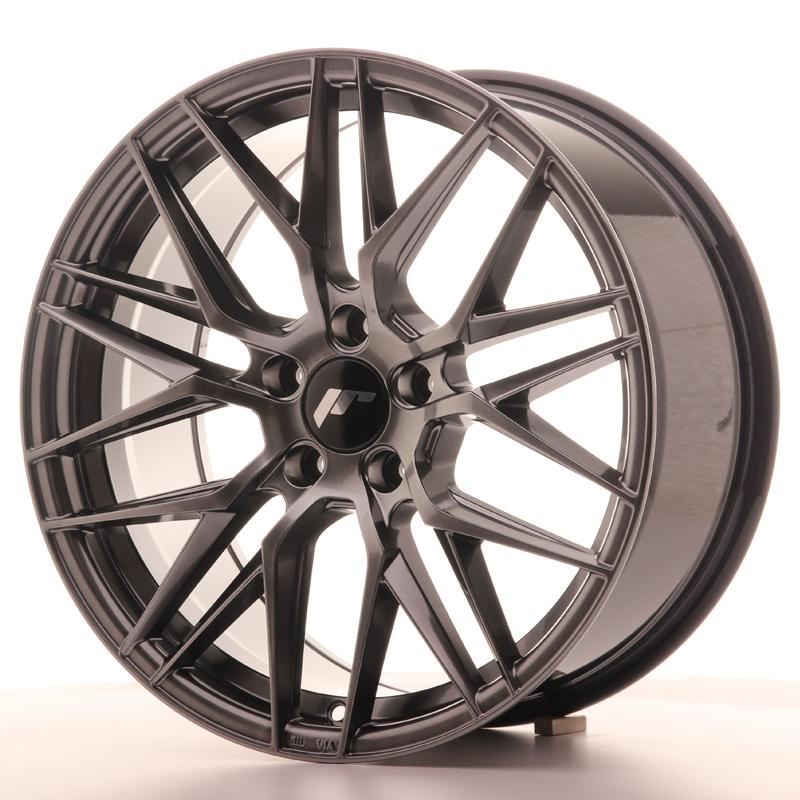 "Japan Racing JR Wheels JR28 18x8.5"" ET40 5x114.3 Hiper Black"