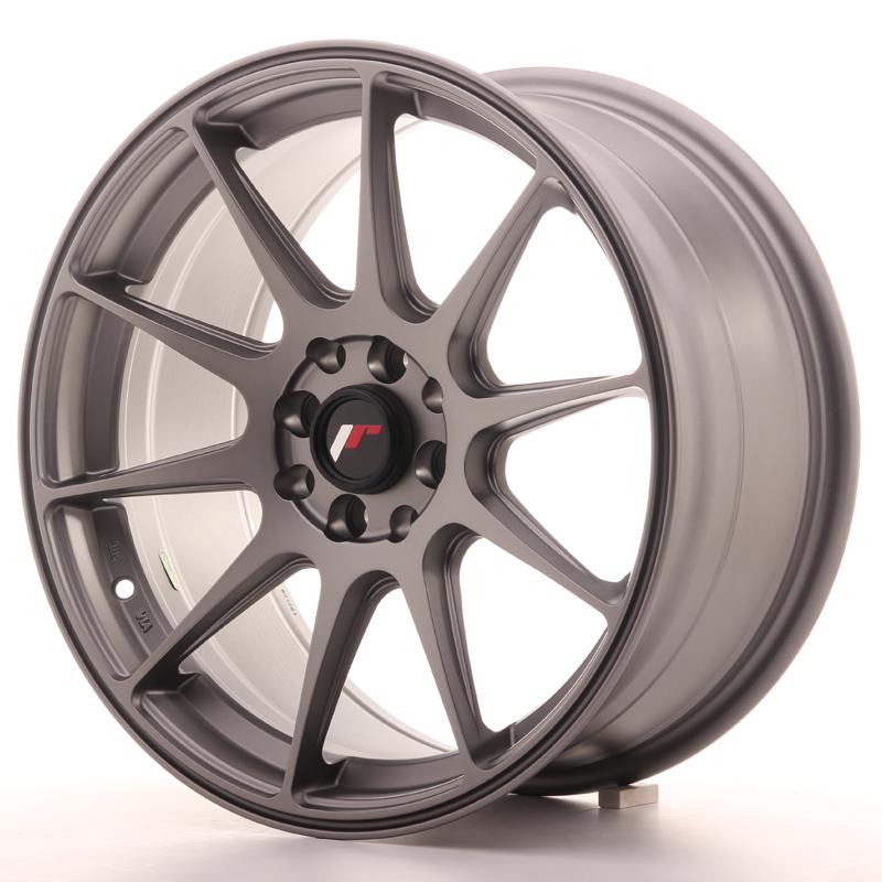 "Japan Racing JR Wheels JR11 17x8.25"" ET35 5x114.3 5x100 Gun metal"