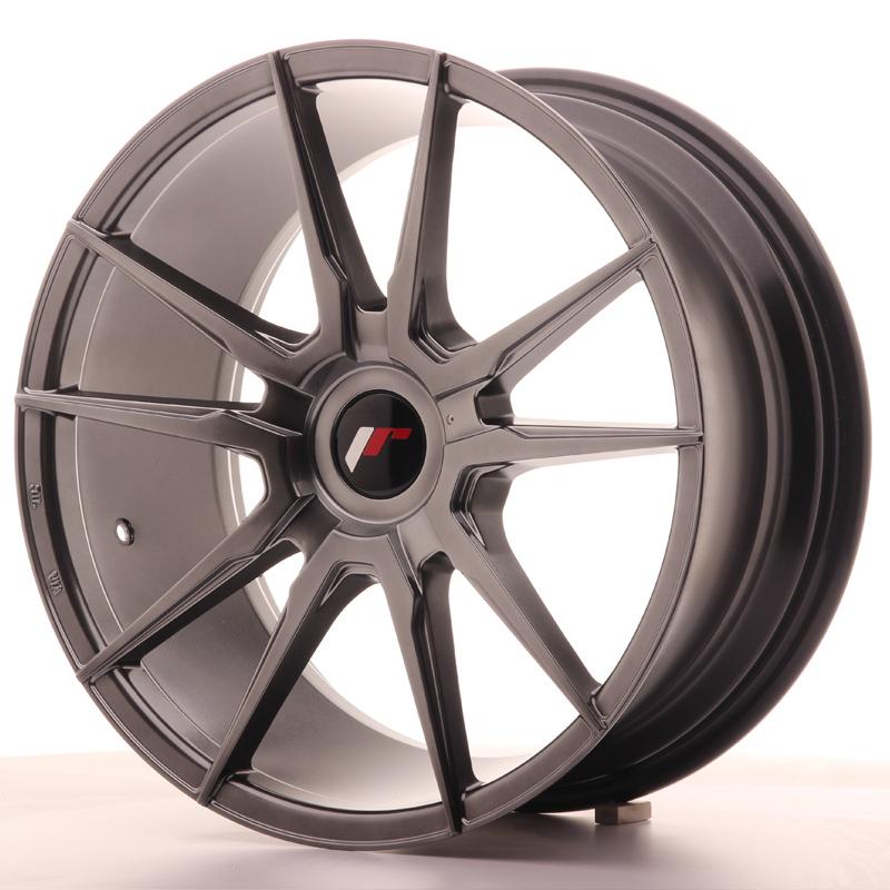 "Japan Racing JR Wheels JR21 18x8.5"" ET30-40 CUSTOM PCD Hiper Black"