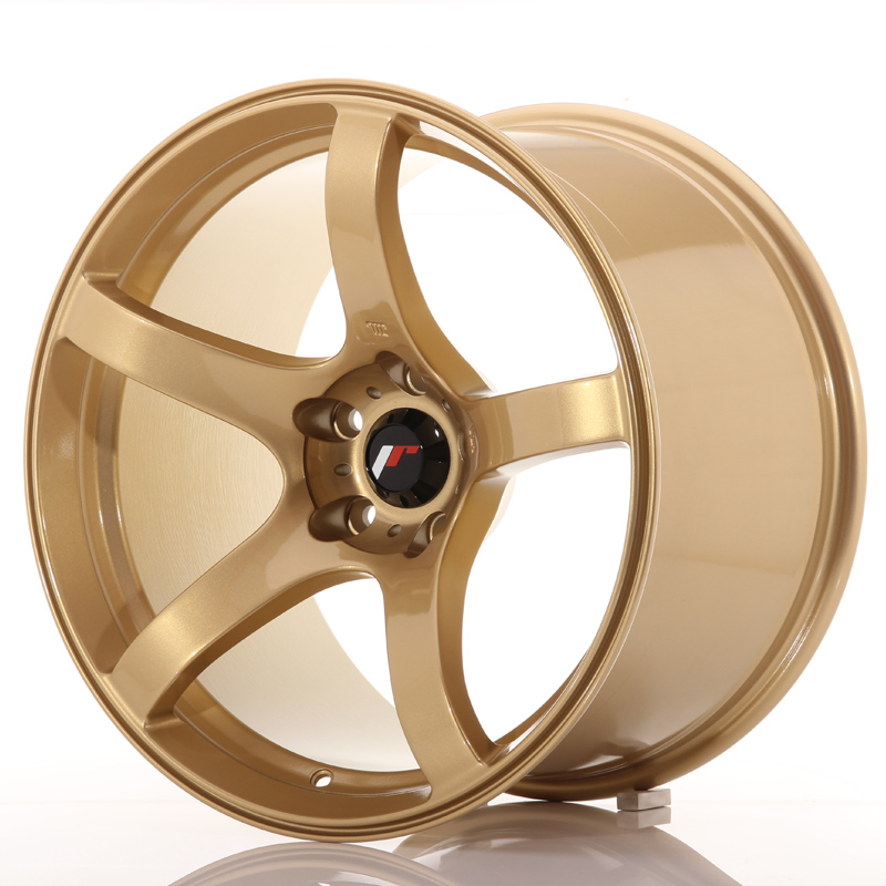 "Japan Racing JR Wheels JR32 18x10.5"" ET22 5x114.3 Gold"