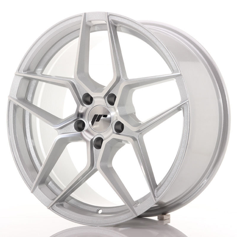 Japan Racing JR Wheels JR34 19x8.5 ET35 5x120 Silver Machined Face