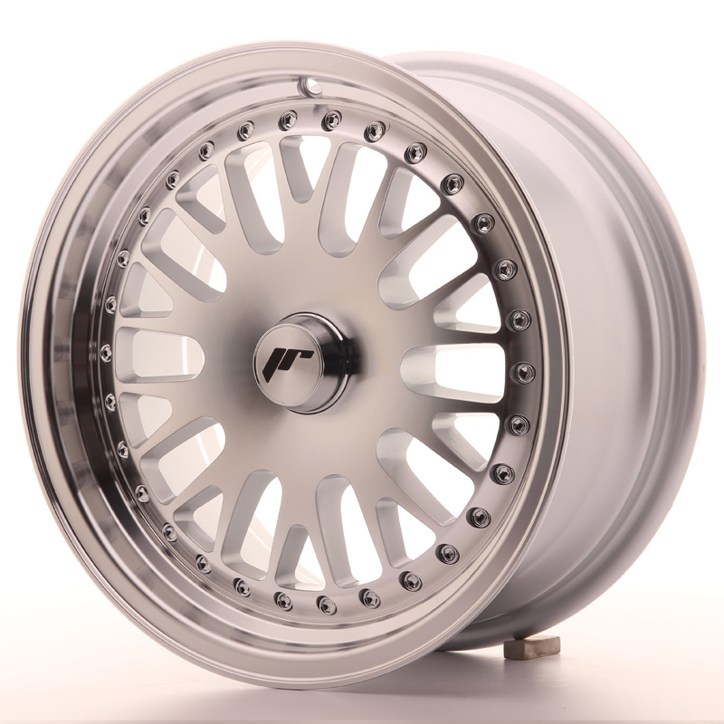 Japan Racing JR Wheels JR10 15x7 ET30 CUSTOM PCD Silver Machined Face
