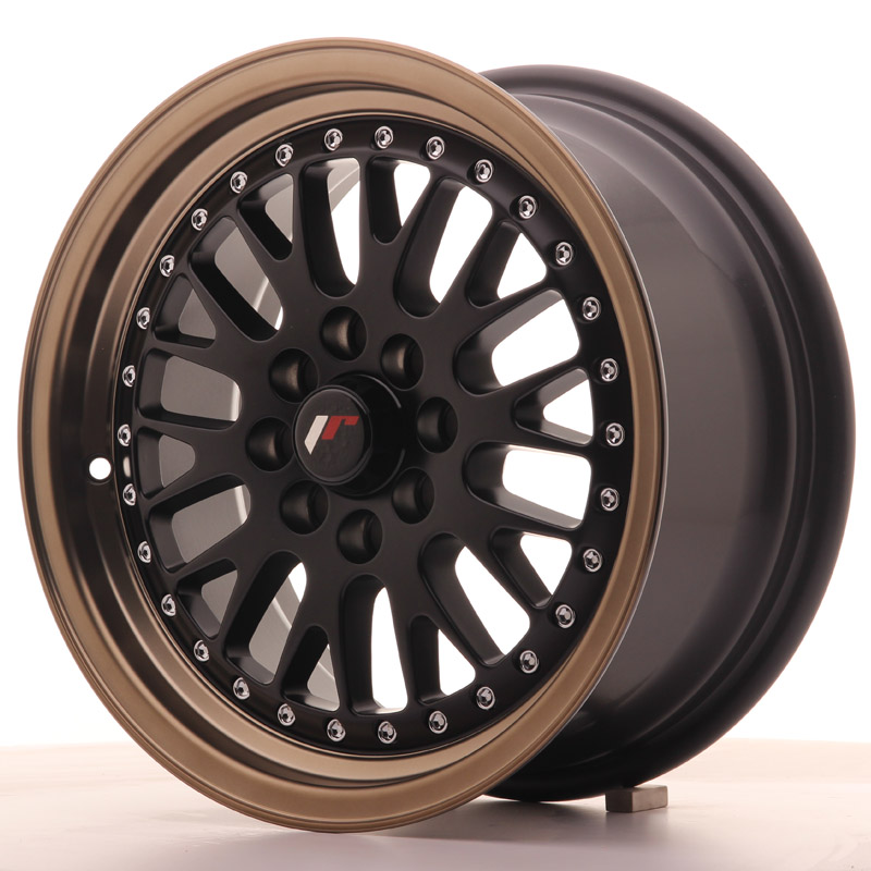 Japan Racing JR Wheels JR10 15x7 ET30 4x100 4x108 Black