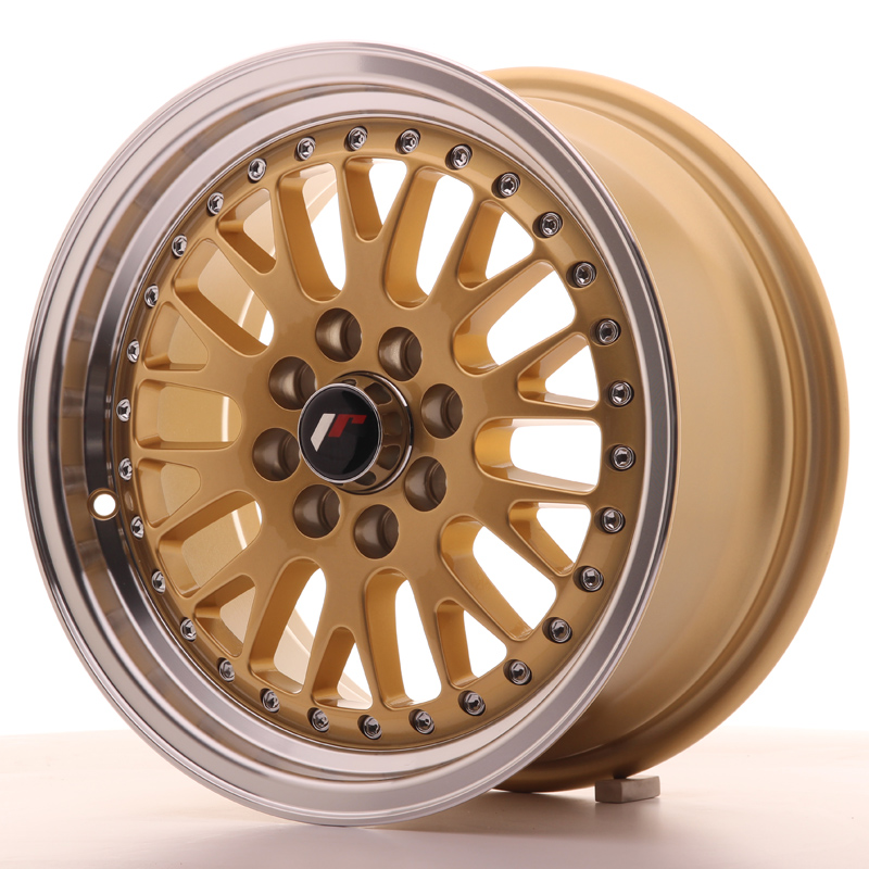 Japan Racing JR Wheels JR10 15x7 ET30 4x108 4x100 Gold