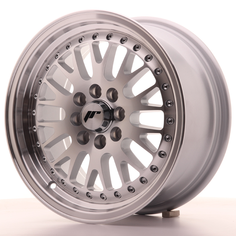 Japan Racing JR Wheels JR10 15x7 ET30 4x100 4x108 Silver Machined Face