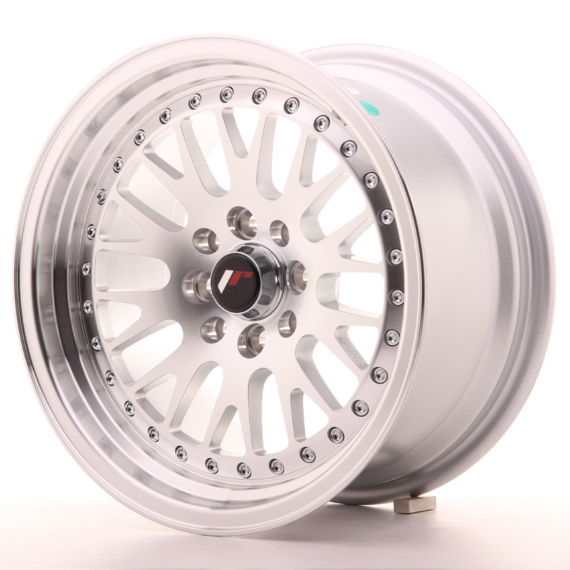 Japan Racing JR Wheels JR10 15x8 ET15 5x100 5x114.3 Machined Face Silver