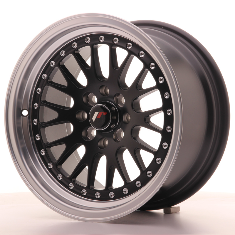 Japan Racing JR Wheels JR10 15x8 ET20 4x108 4x100 Black