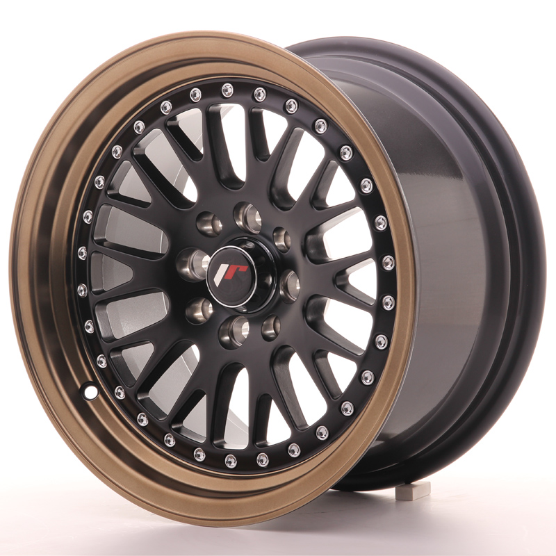 Japan Racing JR Wheels JR10 15x8 ET20 4x100 4x108 Black