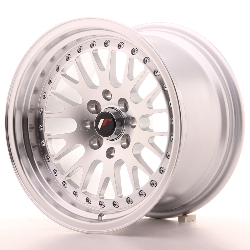 Japan Racing JR Wheels JR10 15x9 ET10 5x100 5x114.3 Silver Machined Face
