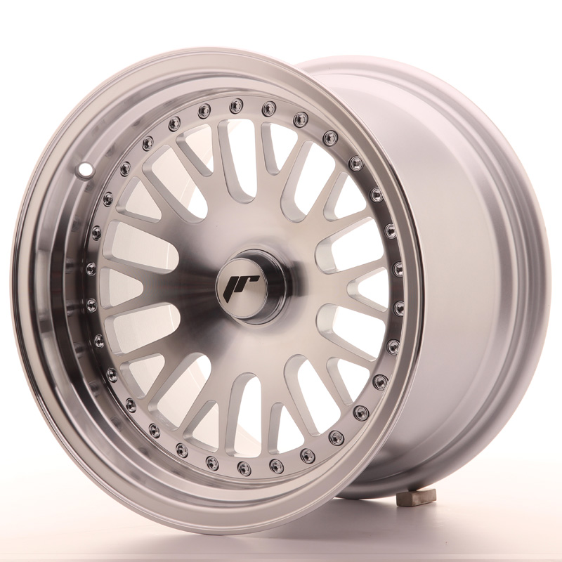 Japan Racing JR Wheels JR10 15x9 ET0-20 CUSTOM PCD Machined Face Silver