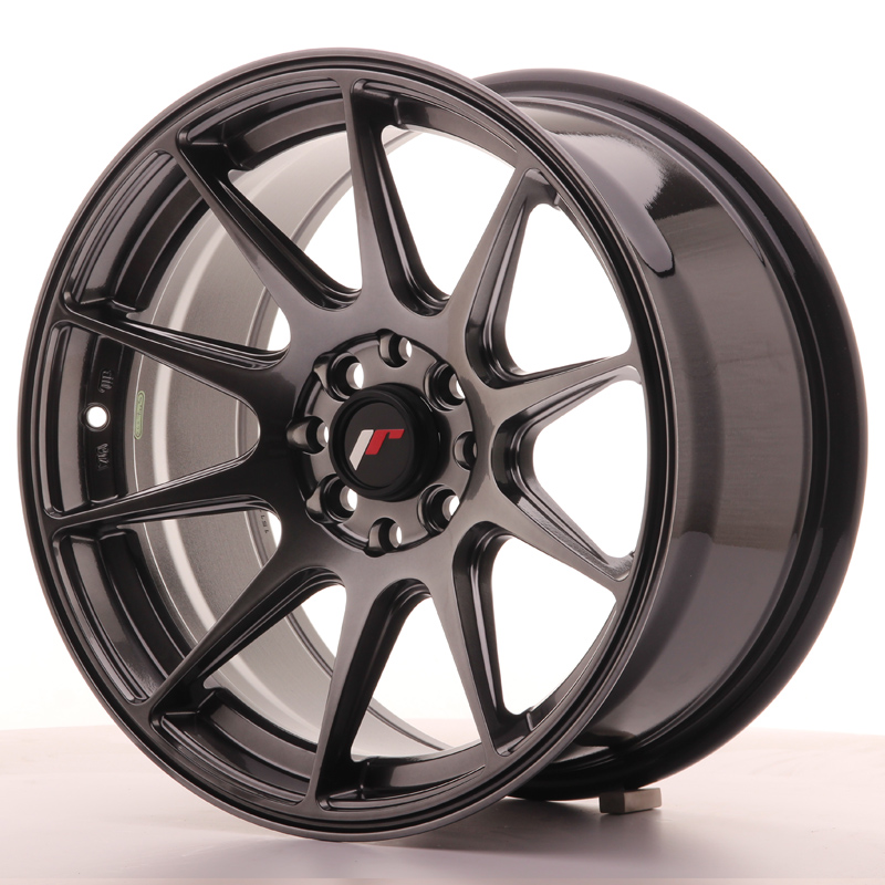 Japan Racing JR Wheels JR11 16x8 ET25 4x100 4x108 Hiper Black