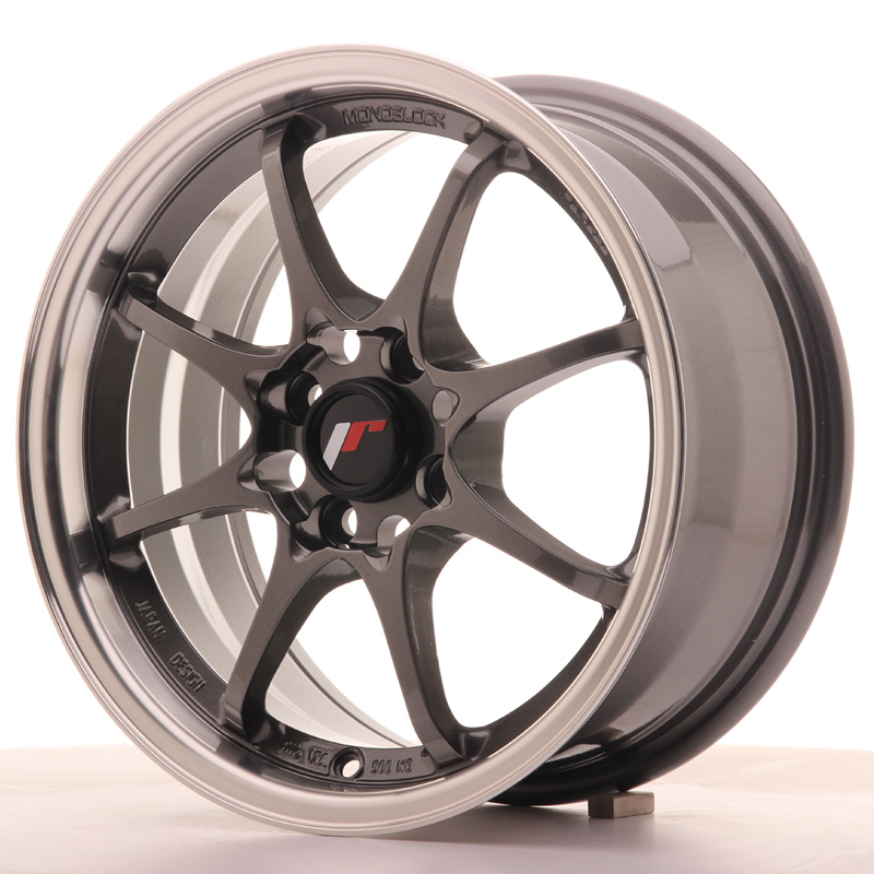 Japan Racing JR Wheels JR5 15x7 ET35 4x100 Gun metal