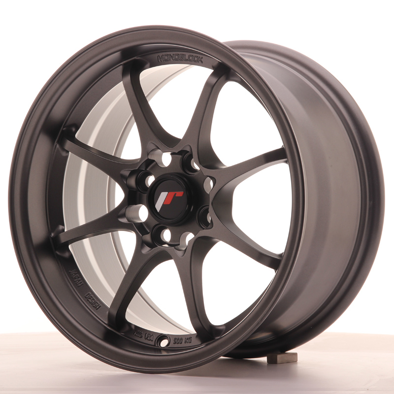 Japan Racing JR Wheels JR5 15x8 ET28 4x100 Gun metal