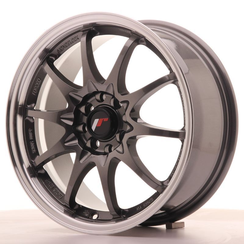 Japan Racing JR Wheels JR5 16x7 ET30 4x100 4x108 Gun metal