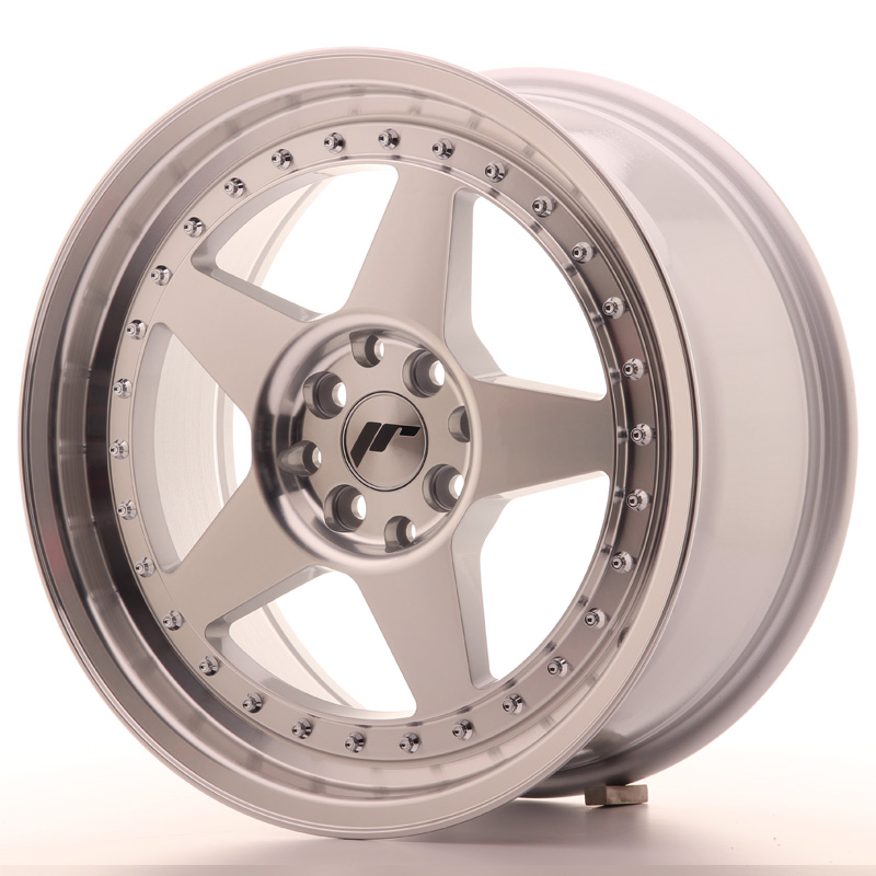 Japan Racing JR Wheels JR6 17x8 ET25 5x114.3 5x120 Machined Face Silver
