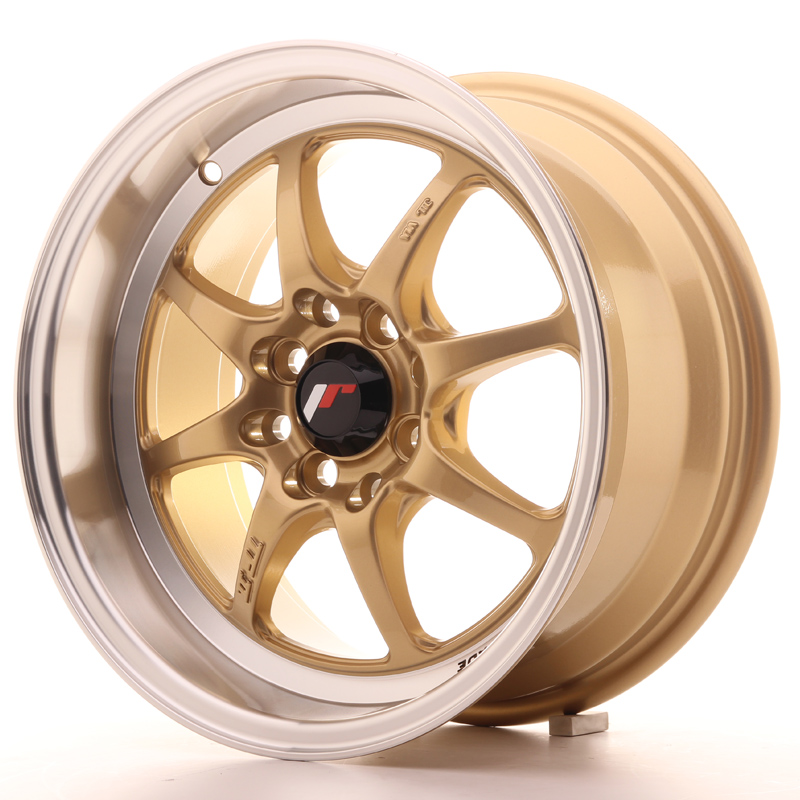 Japan Racing JR Wheels TFII 15x7.5 ET30 4x100 4x114.3 Gold