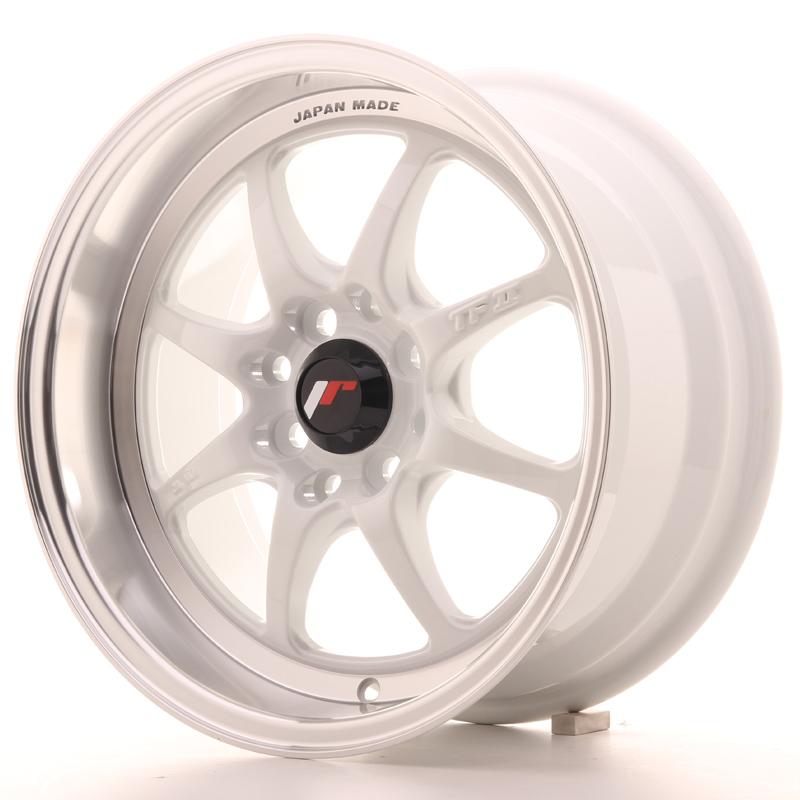 Japan Racing JR Wheels TFII 15x7.5 ET30 4x114.3 4x100 White