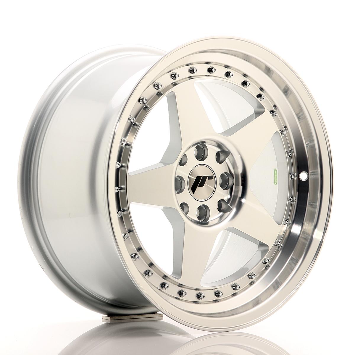ET25 4x100 Japan Racing JR10 Alloy Wheel 17x9-4x108 Machined Silver