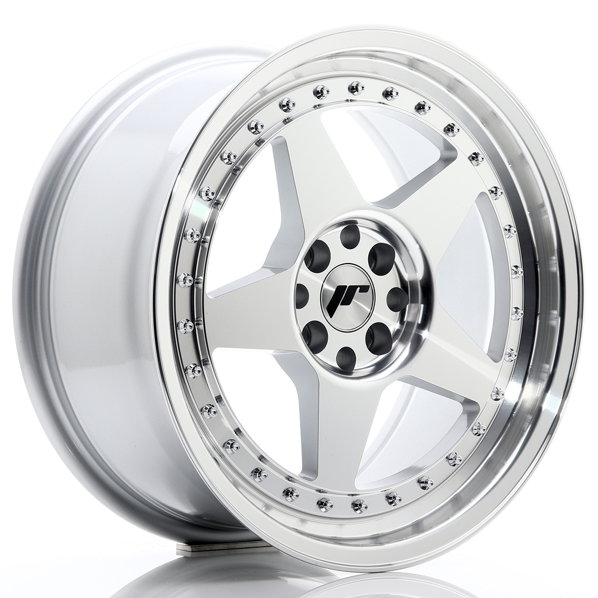 Japan Racing JR Wheels JR6 17x8 ET25 5x114.3 5x120 Silver