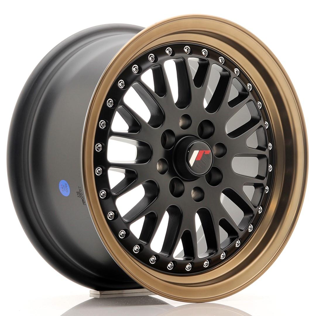 Japan Racing JR Wheels JR10 15x7 ET30 4x100. 4x108 Black