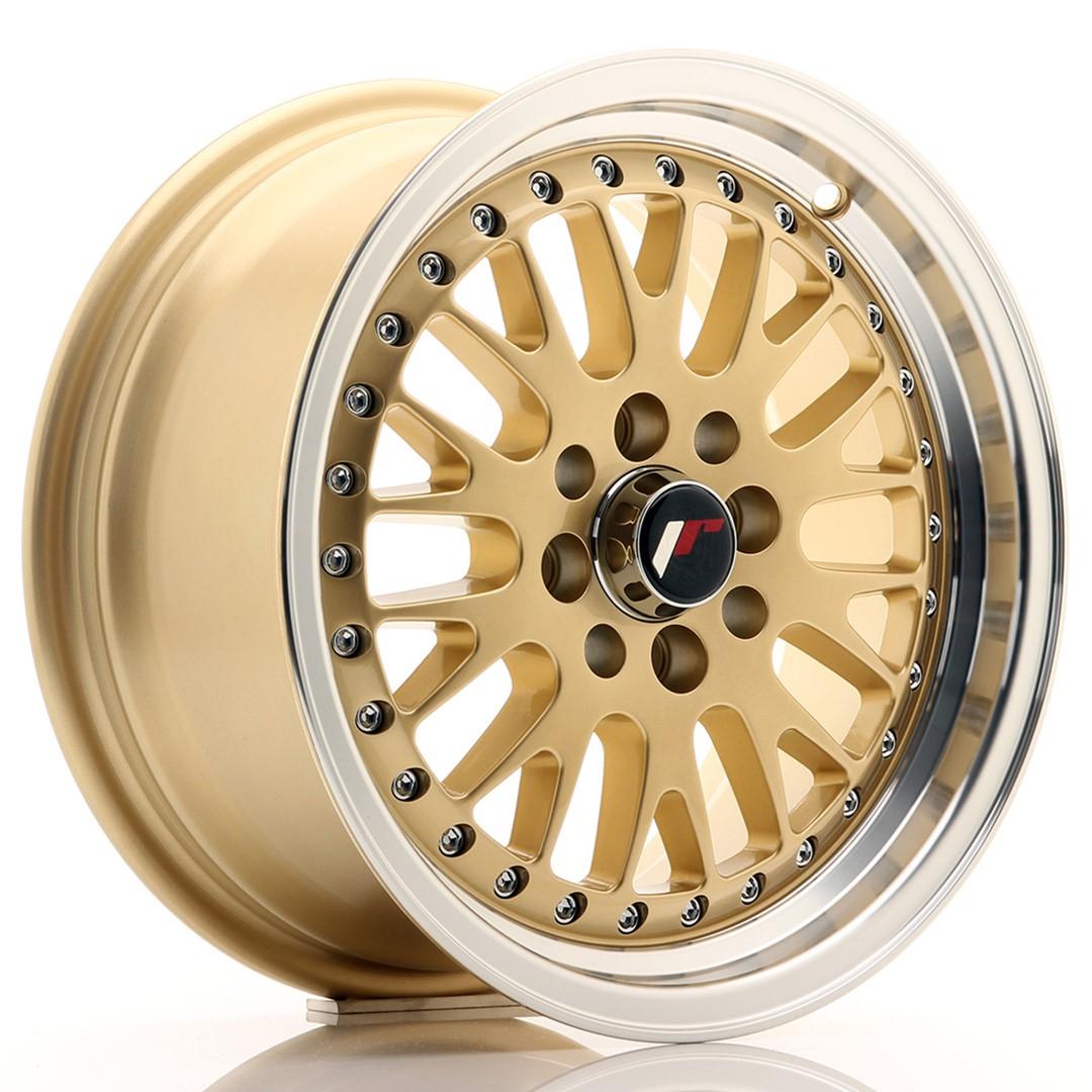 Japan Racing JR Wheels JR10 15x7 ET30 4x100. 4x108 Gold