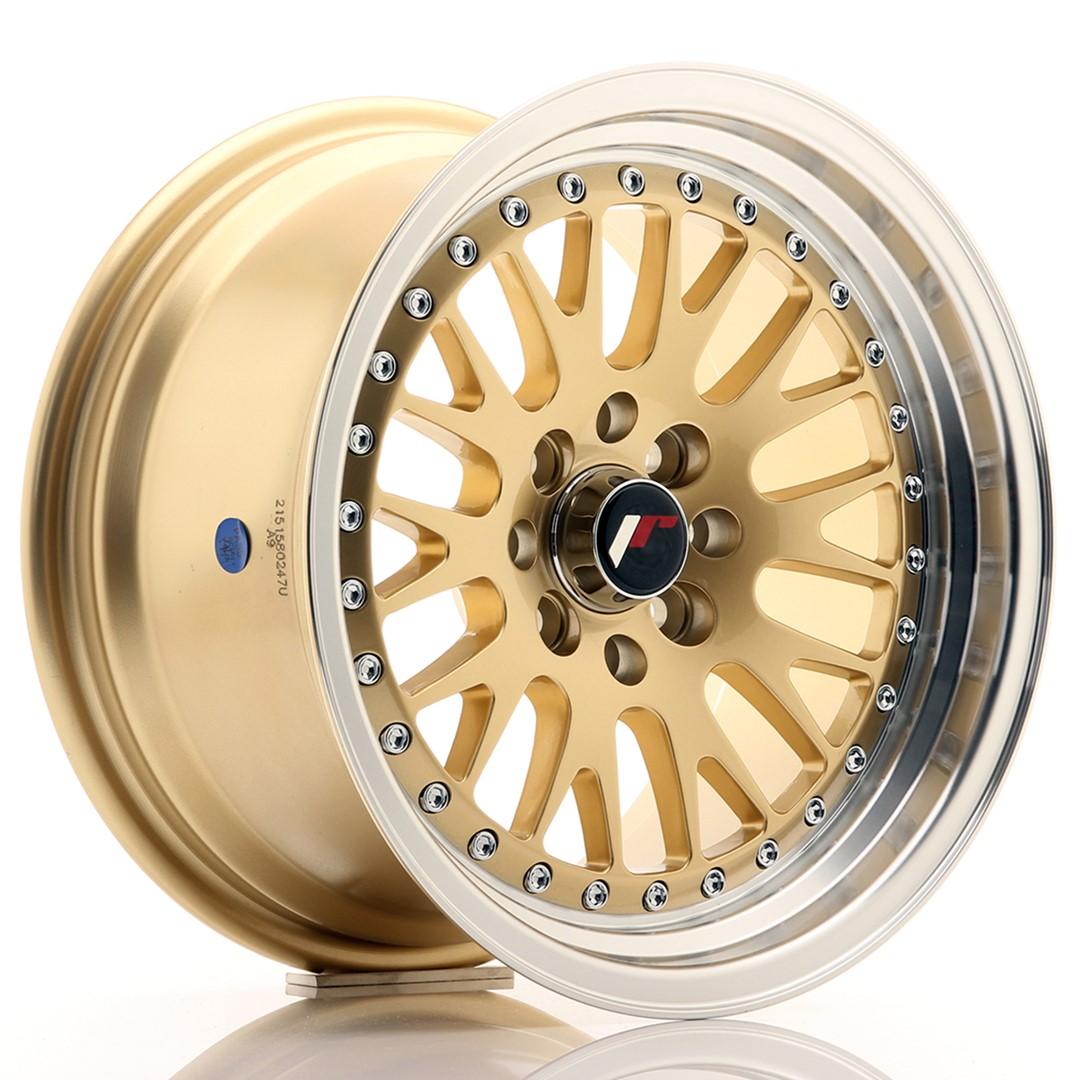 Japan Racing JR Wheels JR10 15x8 ET15 4x100. 4x114.3 Gold