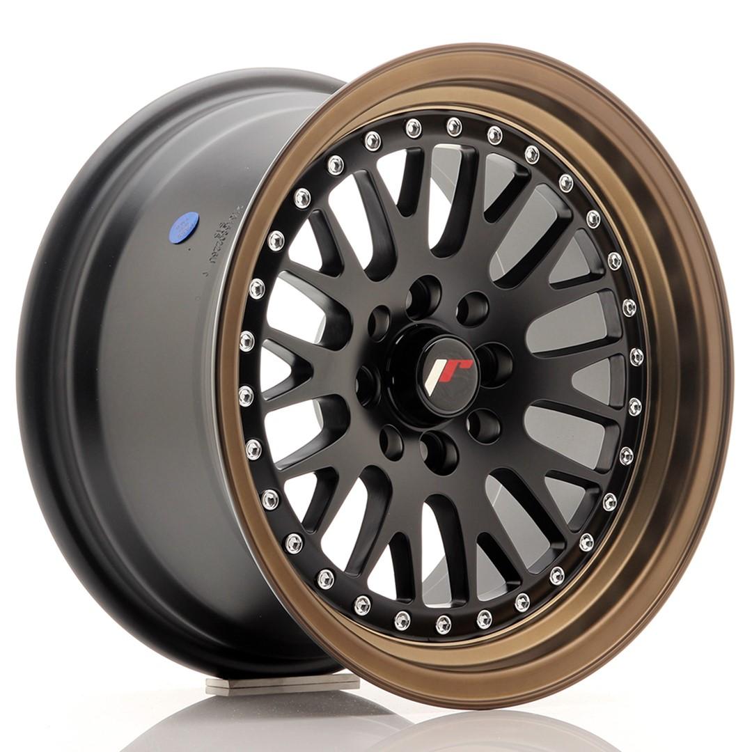 Japan Racing JR Wheels JR10 15x8 ET20 4x100. 4x108 Black