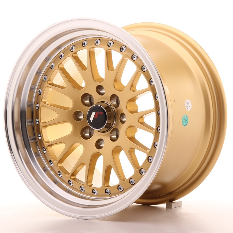 Japan Racing JR Wheels JR10 15x9 ET10 4x100. 4x114.3 Gold